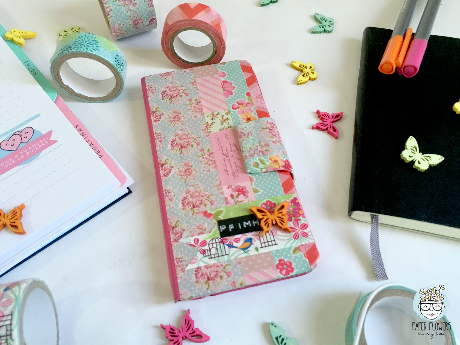 C mo personalizar tu funda de m vil con washi tapes paper flowers in my head - Como decorar una funda de movil ...