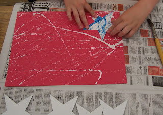 photo of: Kindergarten Patriotic Art project for 9-11