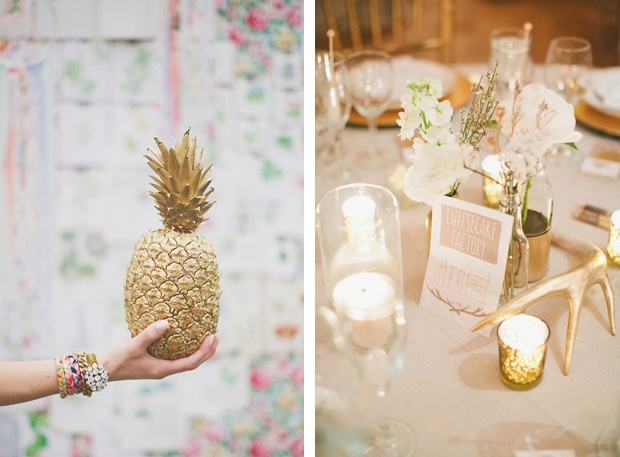 Wedding DIY Spray Paint Gold Decorations Wedding Ideas BeforetheBigDay