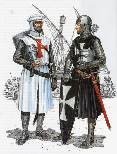 KNIGHTS TEMPLAR AND HOSPITALLER KNIGHT