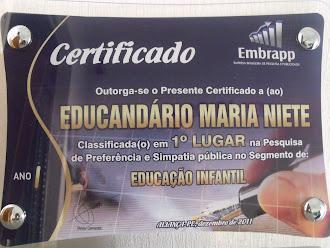 1º Lugar em Educação.