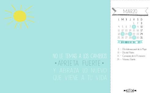 Calendario marzo 2013 fondo de pantalla para descargar gratis