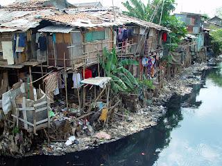 Slum home in jakarta Indonesia
