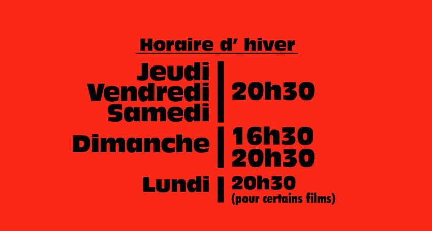 HORAIRE D'HIVER