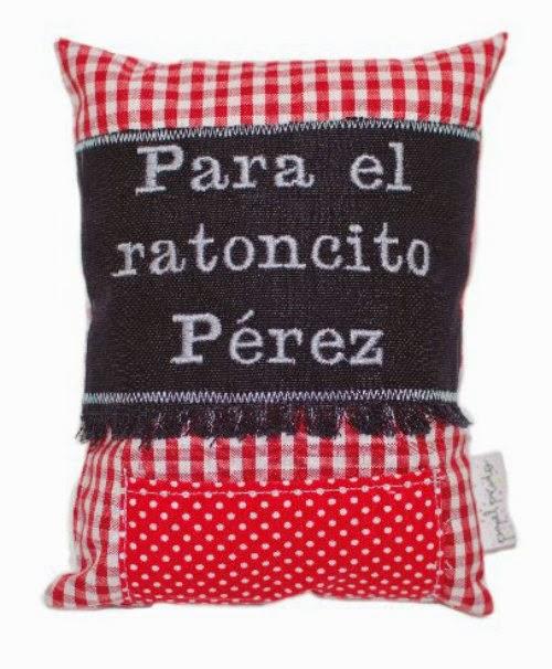 Mini-cojín Ratoncito Pérez de Papelpicadokids