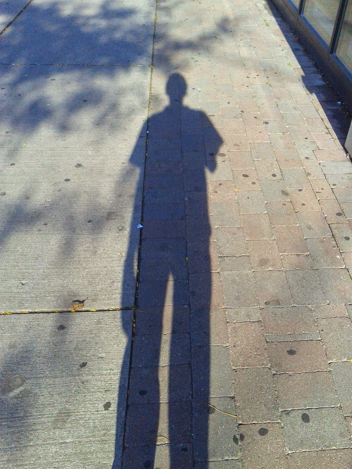 Stock photo: Tall skinny shadow