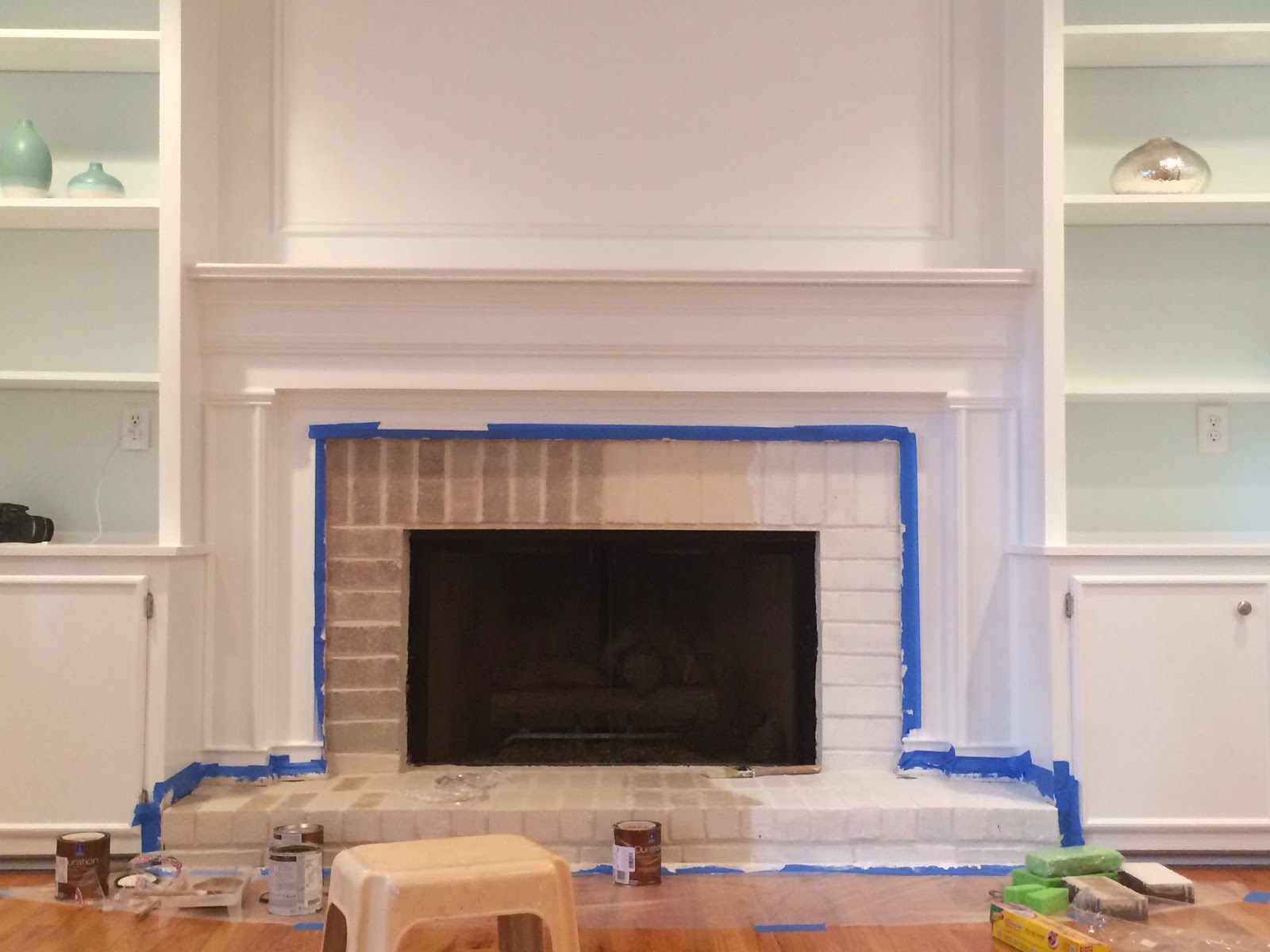 the smitten mintons how to paint a brick fireplace