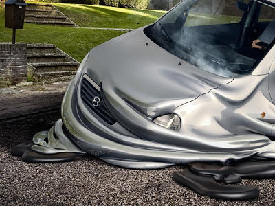 melting cars, car, souverein weesp, art, creative