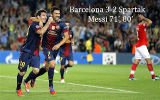 Messi had been denied by Spartak keeper Andriy Dikan
