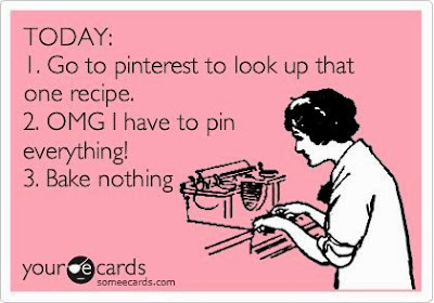 pinterest funny, pinterest humor, pinterest cooking, pinterest baking, someecard, yourecards, pin everything, bake nothing