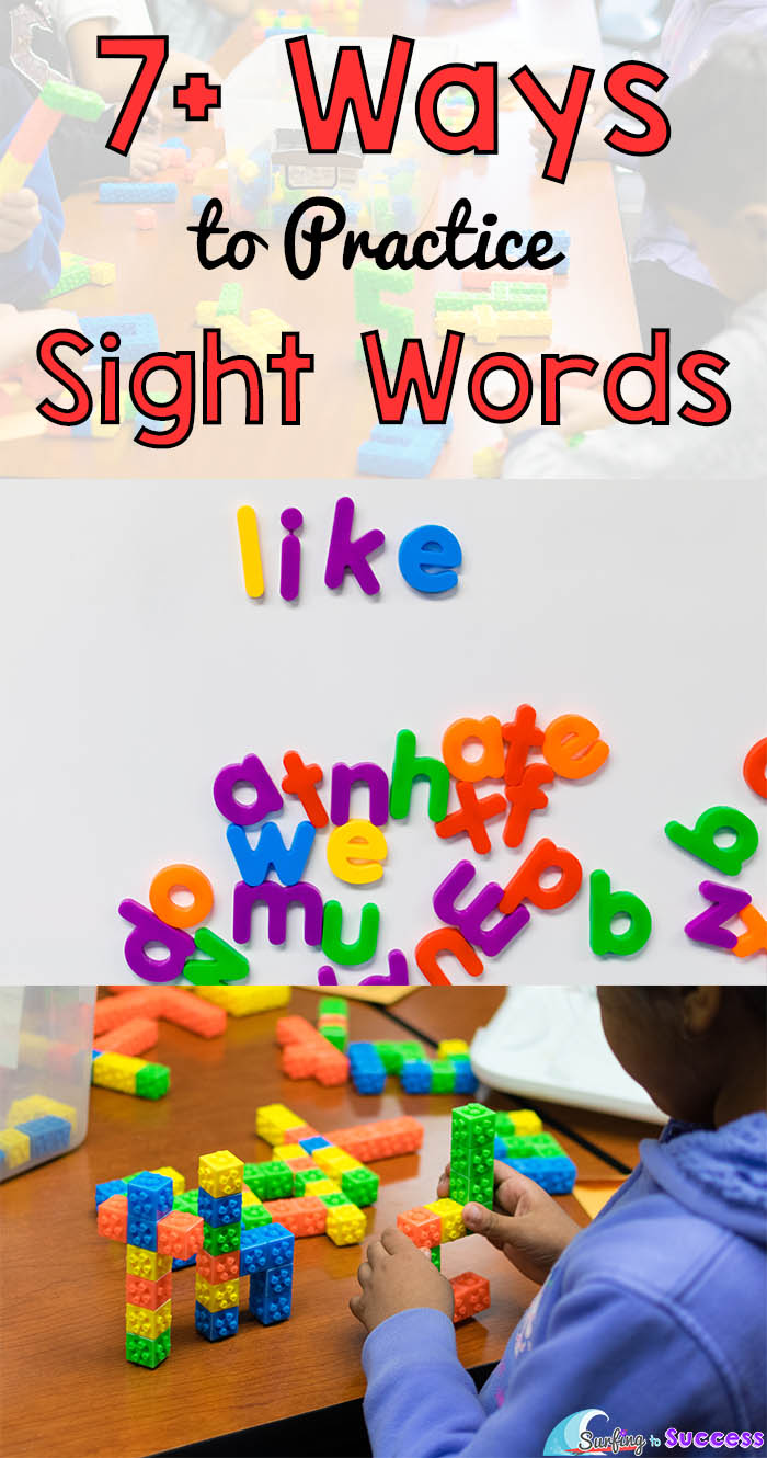 7  ways to practice sight words