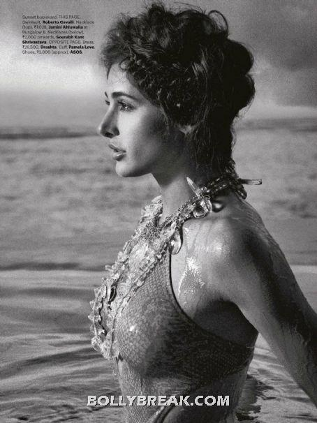 Nargis Fakhri in wet bikini in sea - (9) - Nargis Fakhri Bikini Pics from Harper Bazaar Magazine Hot Scans