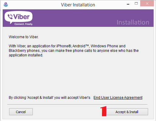 Install Viber on PC