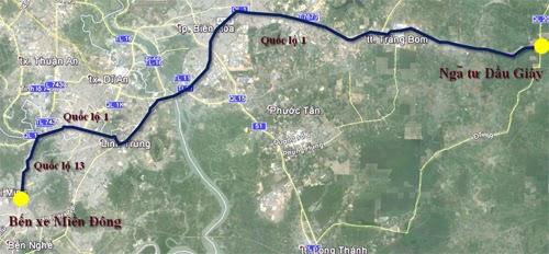 Từ Sài Gòn về quê ăn Tết như thế nào để tránh kẹt xe - Lộ trình 1