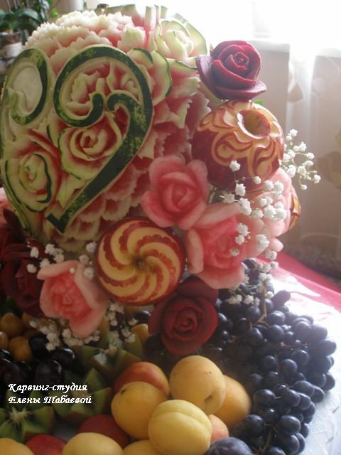 вырезание из фруктов создание композиций карвинг-студия южно-сахалинск