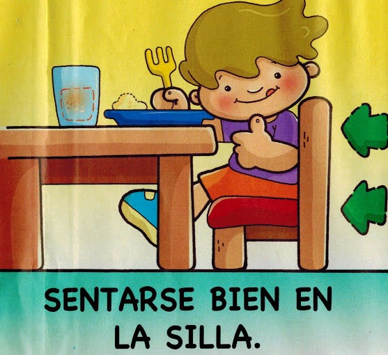 Maestra de infantil normas para comer en la mesa h bitos for Dibujo de comedor escolar