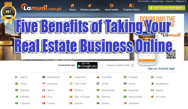 Five Benefits of Taking Your Real Estate Business Online