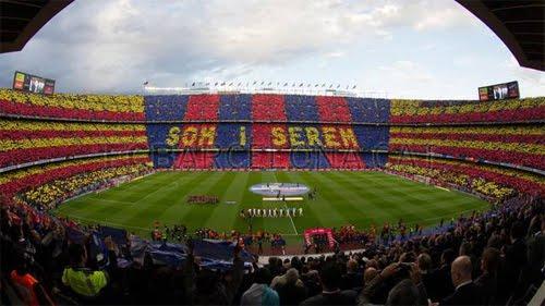 mosaico FC Barcelona Real Madrid Som i serem