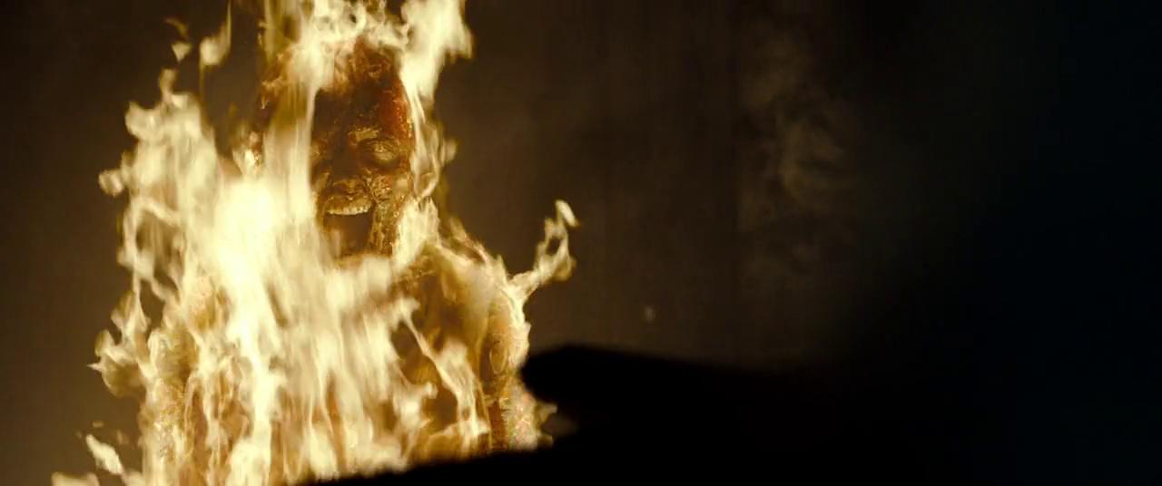 evil dead burning girl