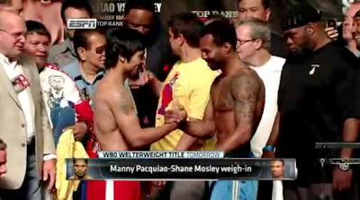 Manny Pacquiao vs Shane Mosley live weigh-in