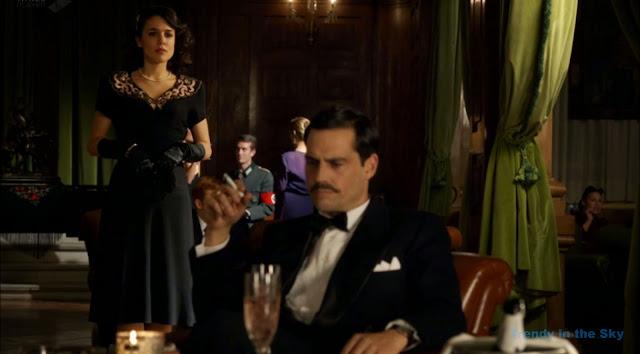 Sira Quiroga vestido negro fiesta. El tiempo entre costuras. Capítulo 9