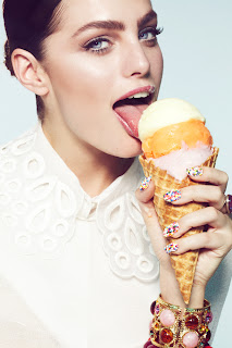 woman licking ice cream, model eating junk food, beauty photographer los angeles