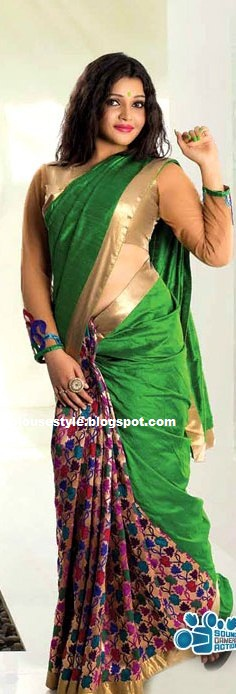 half and hald saree