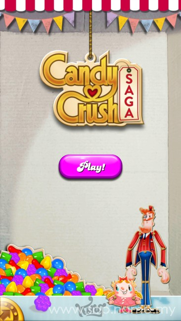 Candy Crush Saga menjadi kegilaan ramai