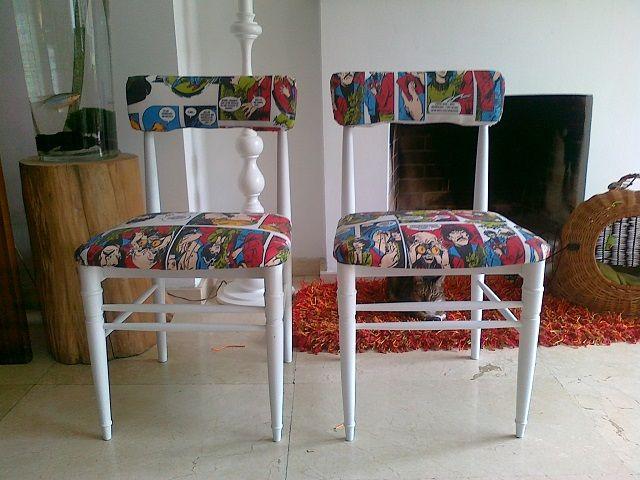 Renovar viejas sillas gearecicla upcycling design - Sillas restauradas ...
