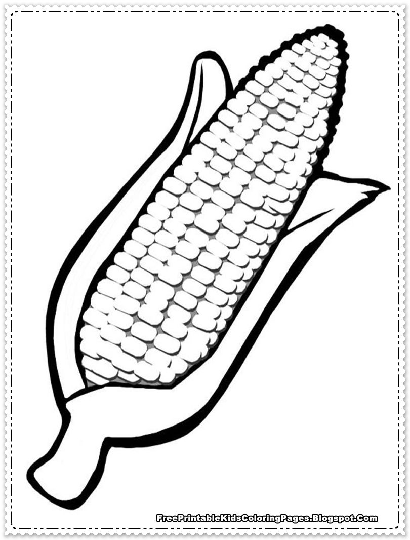 Harvest Corn Coloring Page Corn Coloring Pages