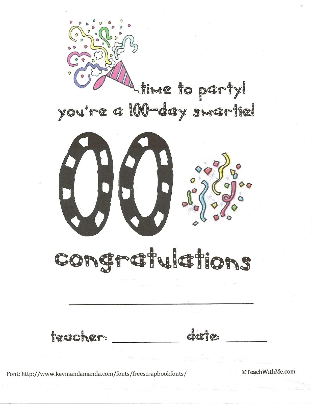 1236 x 1600 jpeg 204kB, Classroom Freebies: Hip-Hippo Ray 100 Day ...