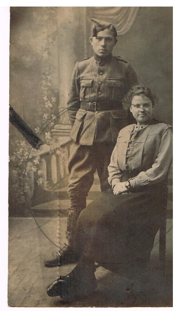 Schoonbroer soldaat Henri Pype met Martha Vandamme