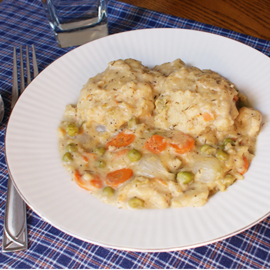 Chicken and Buttermilk Dumplings made from scratch is a hearty, comforting, stick-to-your-ribs, soul-satisfying meal made with a rich and creamy stew topped with tender herb-seasoned dumplings.