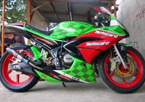 Modifikasi Motor Kawasi Ninja 150 rr Terkeren yang bisa Modifikasi ...