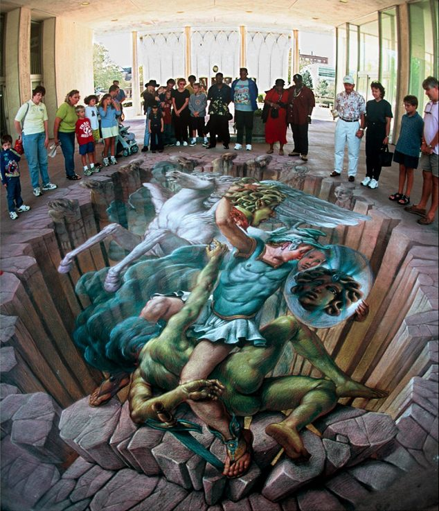23-Perseus-and-Medusa-Kurt-Wenner-3D-Street-Pavement-Art-Painting-www-designstack-co