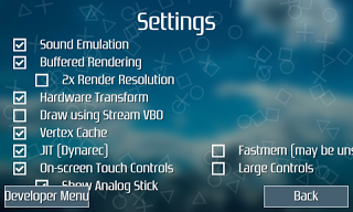 Setting PPSSPP