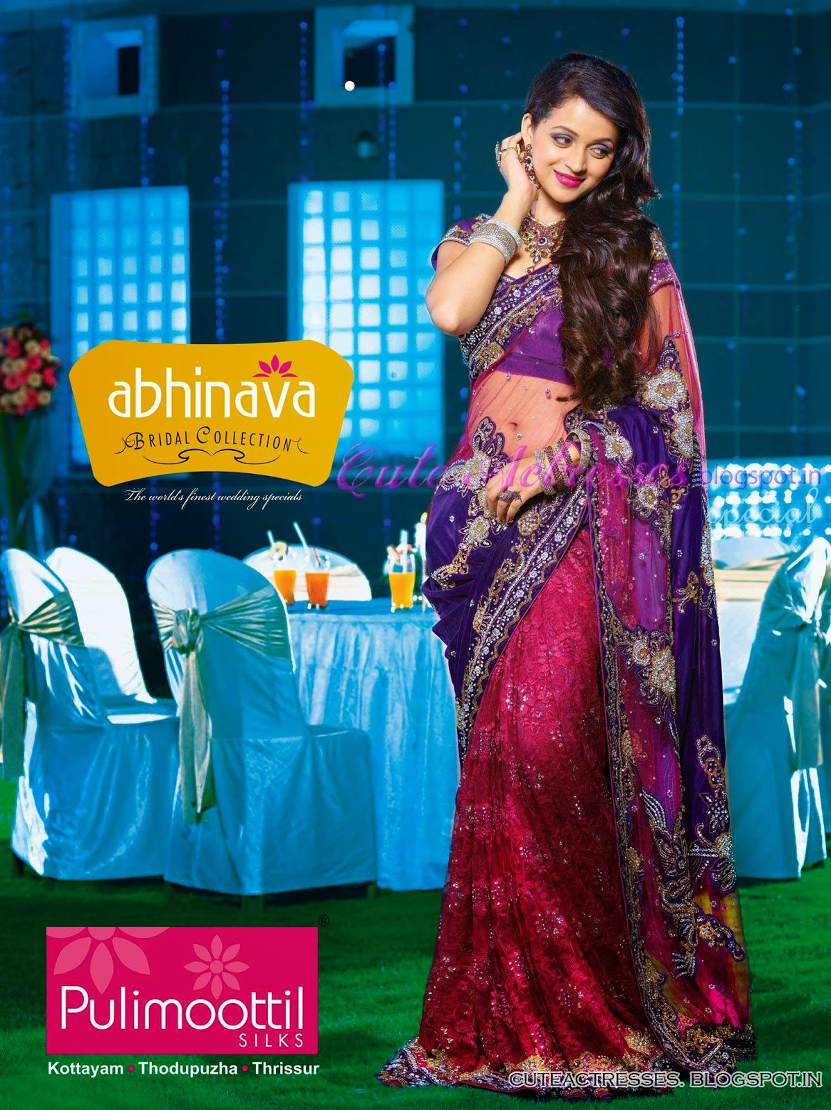 Bhavana in bridal dress for pulimoottil silks only cute actresses she made her acting debut in kamals nammal 2002 which won her critical acclaim and various honors in a career spanning over a decade she has appeared altavistaventures Image collections