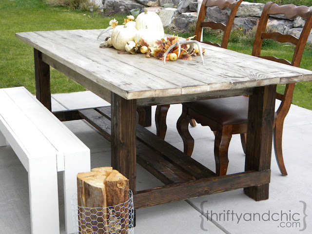 Backyard Table Diy : Thrifty and Chic  DIY Projects and Home Decor