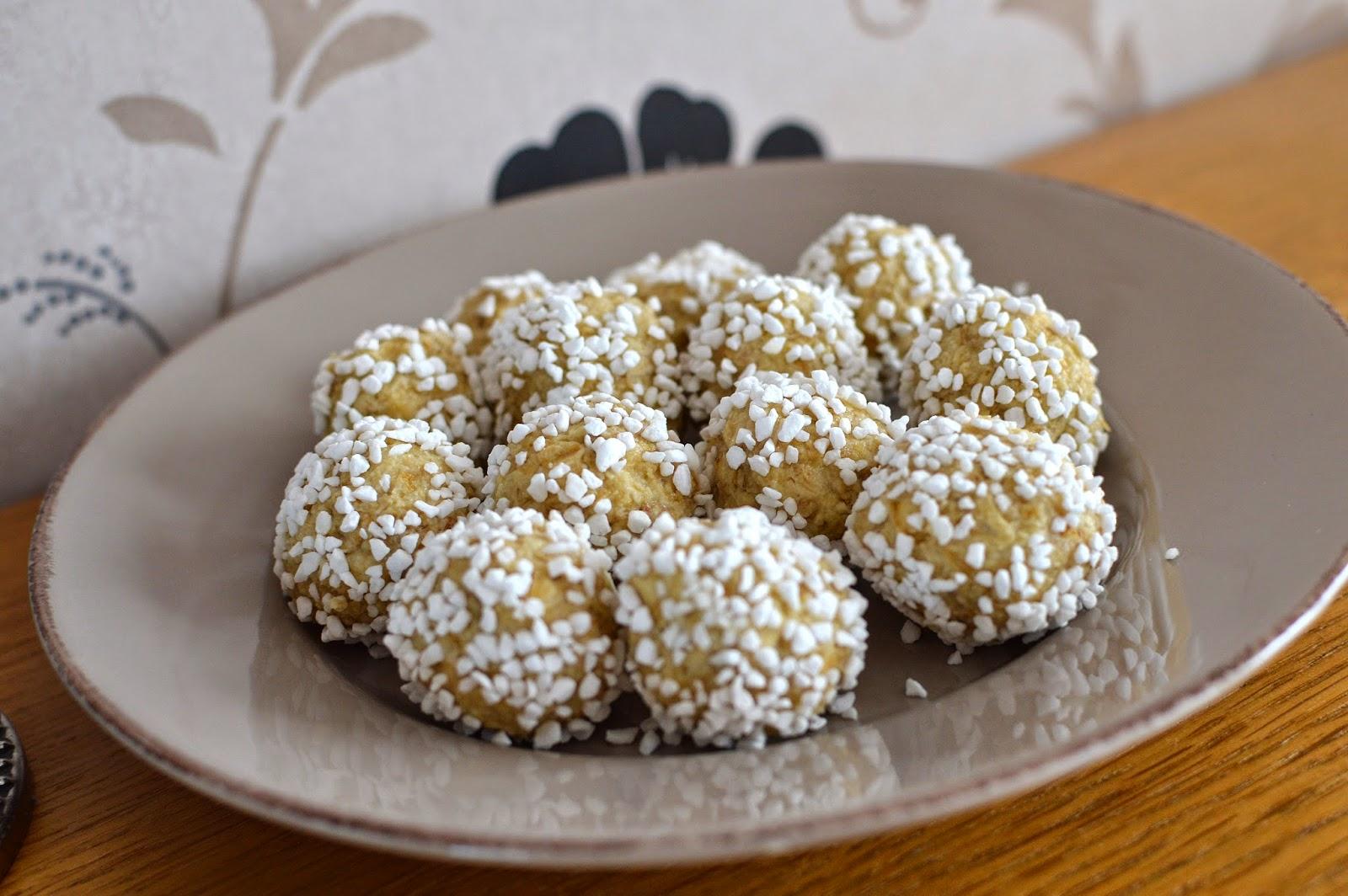 vita chokladbollar recept