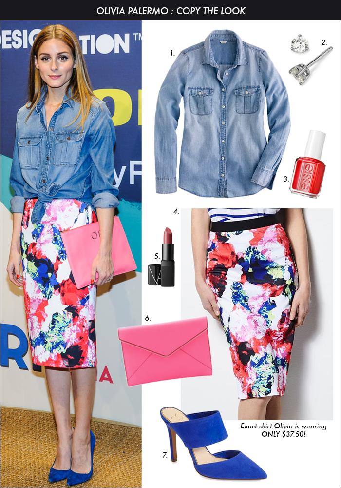 Olivia Palermo Kohl Floral Skirt, MILLY for Kohls, floral skirt, spring 2015 trends