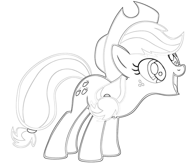 #22 My Little Pony Applejack Coloring Page