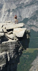 Atop Half Dome in Yosemite