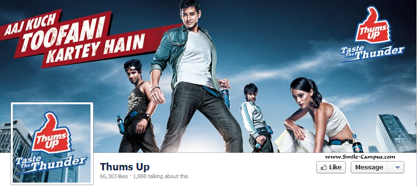 Facebook page of ThumsUp
