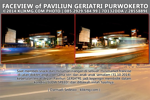 Night View Face of Paviliun GERIATRI RS. Margono Soekardjo Purwokerto