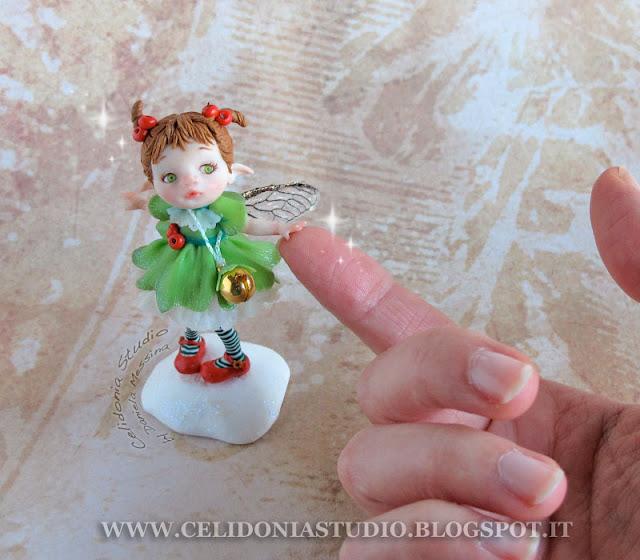 Christmas Time Fairy - Fairy art by Daniela Messina - Celidonia