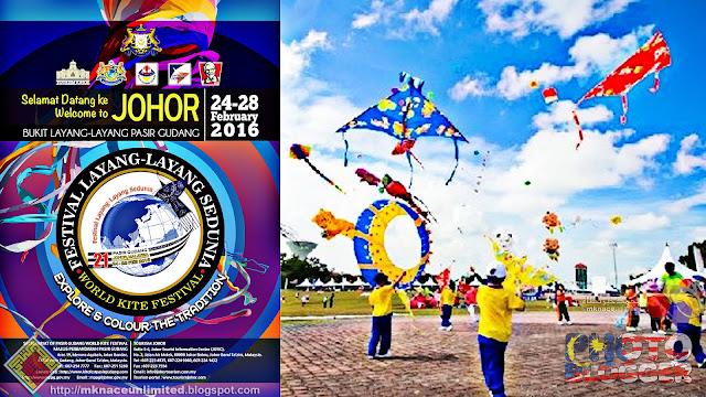 Festival Layang-layang Sedunia Pasir Gudang Ke-21 Sasar 200,000 Pengunjung
