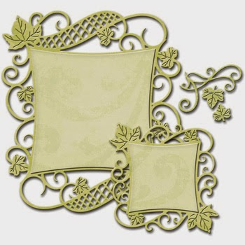 Spellbinders Nestabilities Decorative Elements Curved Square SBS4-525