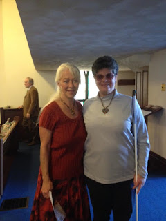 Laurel at Garrett UCC with Music Director Ramona Carlyle