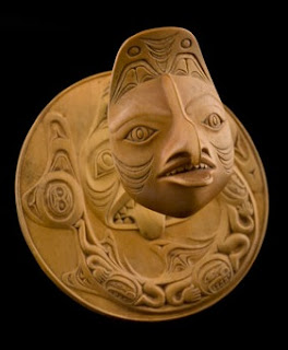Bill Reid, Dogfish Woman transformation pendant.