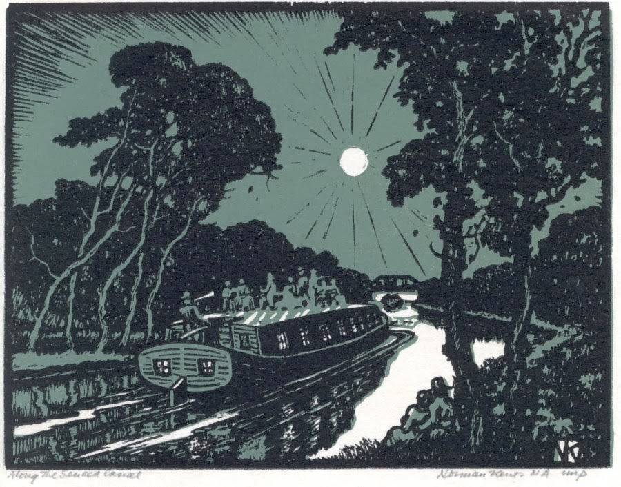 Print of boat on the Seneca Canal